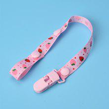 Baby Pacifier Chains Pacifier Clip Portable Safe Catoon Strawberry Pattern