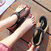 American Size 5-11 Casual Casual Women'S Soft Bottom Outdoor Flat Sandals - BLACK