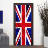 Large 3D British Flag Door Mural DIY Removable Wall Sticker Room Decor - MULTI-A