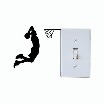 Movie Silhouette Decal Switch Sticker Cartoon Wall Kids Room Home Decor