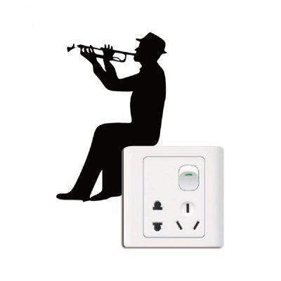 Personalized Sticker Girl Cello Player Silhouette Decal Light Switch Home Decor