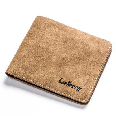 Porta carte di credito Baulerry Vintage Short PU Leather Bifold Wallet