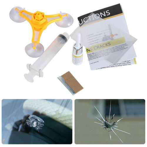 Ziqiao Diy Car Window Repair Tools Kits Windscreen Glass Scratch Crack Restore