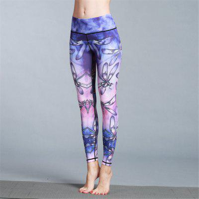 Women Yoga Pants High Waist Spliced Elastic Pants