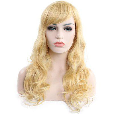 Inclined Bang Big Wave Curl Long Wig
