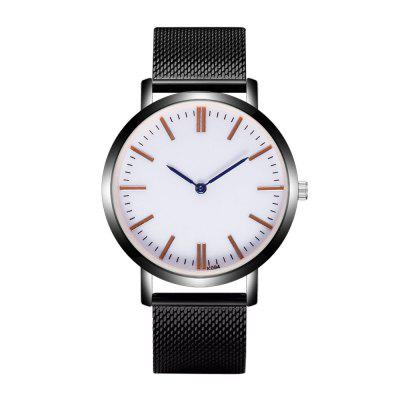 Fashion High-End Business Stainless Steel Mesh Belt Watch