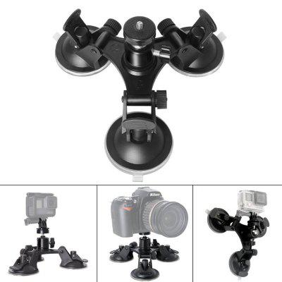 Car Sucker Mount Holder Camera Tripods with Angle Adjustable Ball Head
