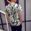 New Round Neck Summer Camouflage 3D HD Print Short-Sleeved T-Shirt - MULTI