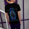 New Casual Fashion Unisex Astronaut 3D Printed Short-Sleeved T-Shirt - BLACK