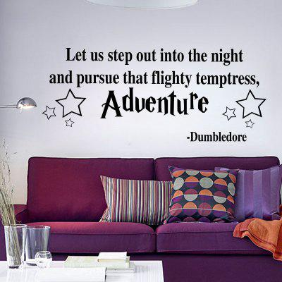 Dumbledore Saying Words Stars Sticker Let Us Adventure Quote Vinyl Wall Decal