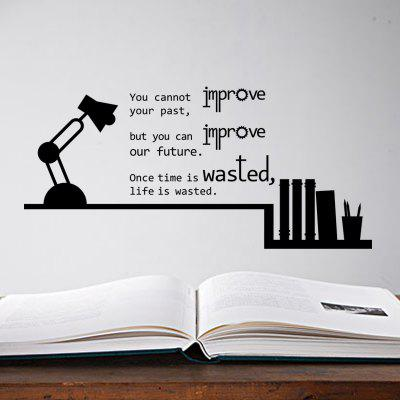 Quote Motivational Wall Stickers Lamp Time Decals for Kids Room Decor
