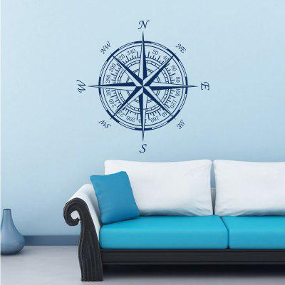 Compass Vinyl Removable Wall Sticker Round Compass Decal DIY Home Decoration