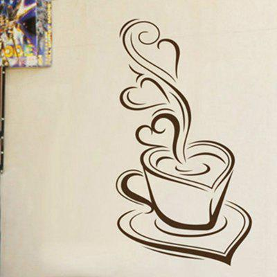 Kitchen Wall Sticker Coffee Delicious Coffee Mugs Vinyl Art Decals Bakery DIY