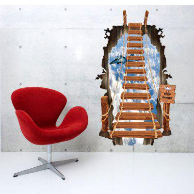 Creative Fashion Cloud Ladder 3D Wall Sticker Kids Room Home Decoration