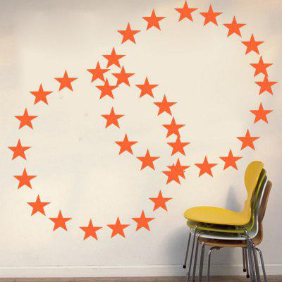 Five-Pointed Stars DIY Vinyl Wall Sticker for Kids Nursery Room Home Decoration