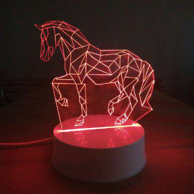Colors Changing Decorate 3D LED Night Light Horse Animals Lamp Kids Nurser Room