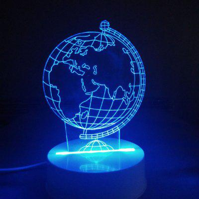 3D Optical Illusion Sculpture Lights In 7 Colors Remote Earth Shape Globe World
