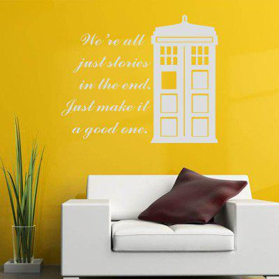 We Are All Just Stories in The End Quote Vinyl Decal Wall Sticker House Patterm
