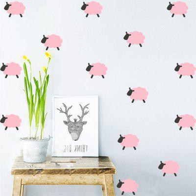 1SET/9PCS Cute Sheep DIY Vinyl Wall Stickers for Kids Nursery Room Decoration