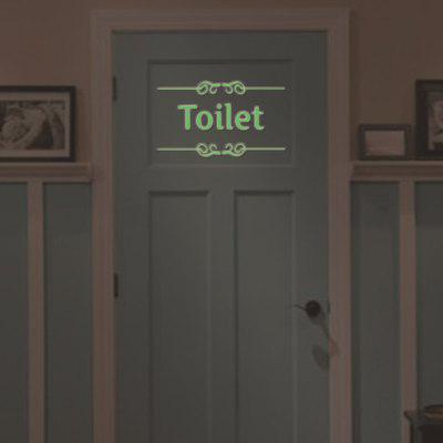 WC toilette Luminoso Sticker Quote Words Toilet Decals Glow in Dark Decor