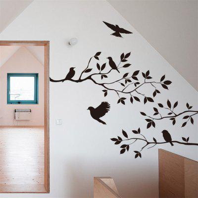 Branches Birdie Bedroom Living Room Background Selling Carved Wall Sticker