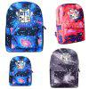 Star Sky School Bag Fille Étudiant Cartoon Q Edition Sac à dos Couple Sac à bandoulière - BLEU PROFOND