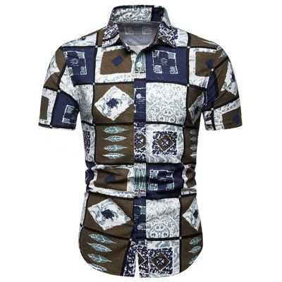 Floral Casual Men's Short Sleeve Shirt