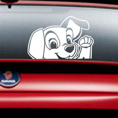 Cartoon Animals Cute Dog Car Sticker Dog Say Hello Decal DIY Kids Nursery Room