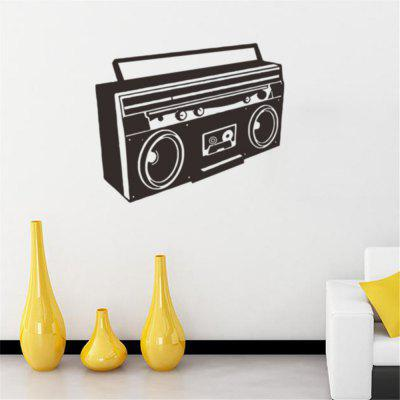 Vintage Radio Osobnosti Obývací pokoj TV Wall Decorative Wall Sticker Decal