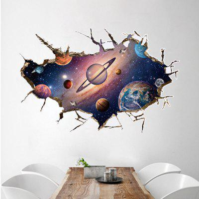 3D Space Planet Removable Wall Sticker The Planet Art Living Room Decorative
