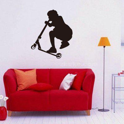Boy Scooter Racing Vinyl Wall Sticker Toy Car Wall Decals for Kids Room Decor