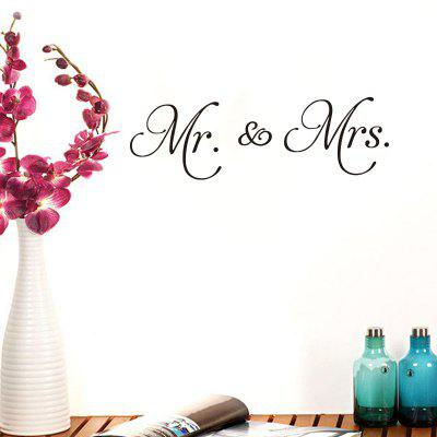 Mr Mrs Quote Wall Sticker Vinyl Removable English Words Quote Decals Couple