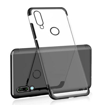 CHUMDIY Transparent Slim Plating TPU Phone Case for Xiaomi Redmi Note 7