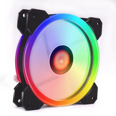 Wireless RGB LED Light 12cm Computer PC Case Cooling Fan CPU Cooler