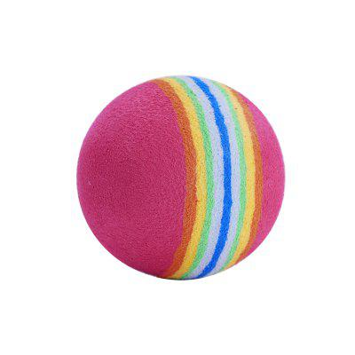 Soft Bubble Rainbow Cat Toy Ball