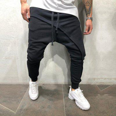 Men's Jogging Trousers Recreational Rope-pulling Trousers