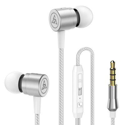 Stereo Earphone Noise Isolating Headphone Headset with Microphone