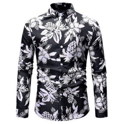 2019 New Foreign Trade Men'S Casual Print Men'S Shirt