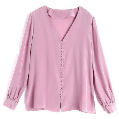 New Silk Shirt Spring Female  Silk Sleeve Long-sleeved Shirt