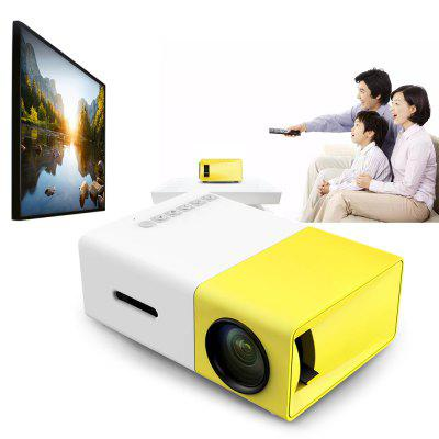 YG-300 LCD LED Mini Projector 400-600LM 1080p Video 320 x 240 Pixel
