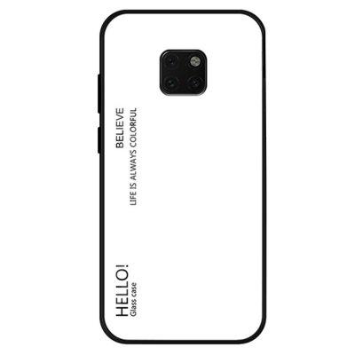 Gradient Tempered Glass Case Cover voor Huawei Mate 20 Pro