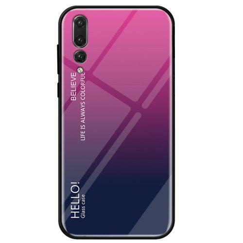 new style 240f2 61e9c Gradient Tempered Glass Case Cover for Huawei P20 Pro