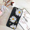 Three Daisies Candy Black Protective Flexible Soft Case for iPhone 6 / 6S - WHITE