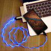 Reeyoo LED Light Visible Type-C to USB Flowing Round Cable - BLUE