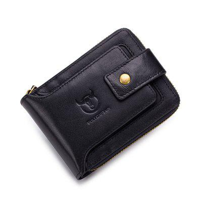 Men Genuine Leather Wallet Male Coin Purse Pocket Zipper Money Clip Card Holder