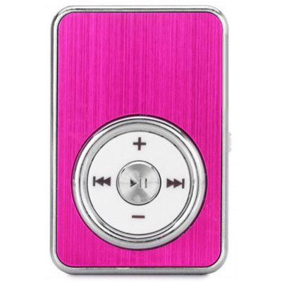 Crystal Style SD Card Slot MP3 Player with Universal 3.5mm Jack Back Clip