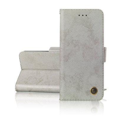 Simplicity leather Cover phones Case voor iPhone 5 / 5s / SE Cover