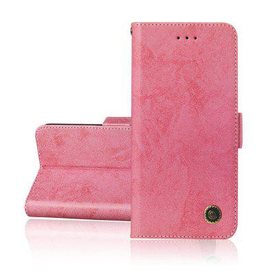 Simplicity leather Cover phones Hoesje voor Samsung Galaxy A8 2018 Cover