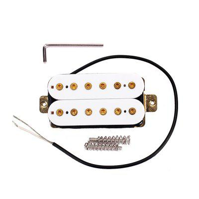 Humbucker Pickup Set Black Alnico 5 Magnets Two Conductor Wired