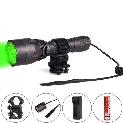 UltraFire H-G3 Cree XP-E2 3LED Green 535NM Outdoor Hunting Light Flashlight Set